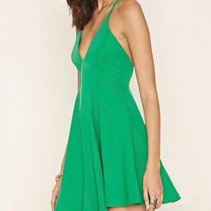 NWT Forever21 green cocktail dress - small